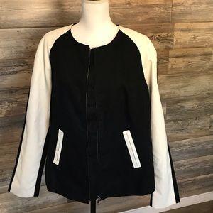 Lane Bryant Black and White Jacket (Size 14/16)